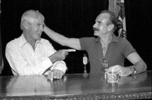 Timothy Leary and G Gordon Liddy