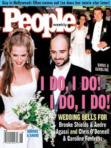 Andre Agassi and Brooke Shields Wedding
